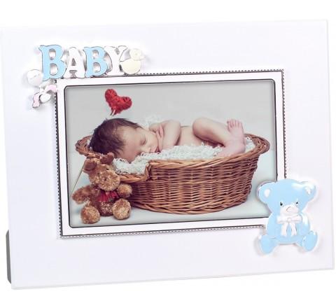 PORTAFOTO 09543 INFANTIL PLATEADO ESMALTADO