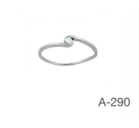 ANILLO BRILLANTE O,O3 KTES OROBLANCO 18KTES G/H-VS A-290