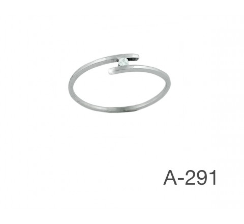 ANILLO BRILLANTE 0,03KTES G/H-VS ORO BLNCO 18KTES A-291